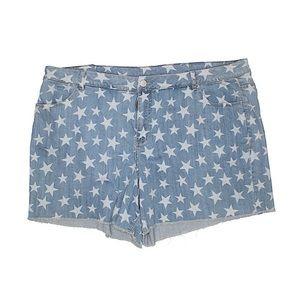 Lane Bryant | Star Print High Waisted Denim Shorts